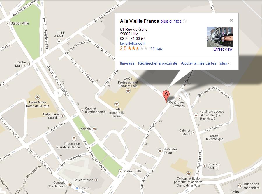 Contact - Accés par Google la Vieille France